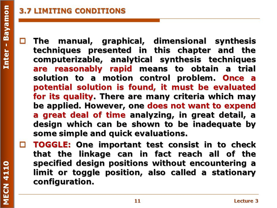 3.7 LIMITING CONDITIONS