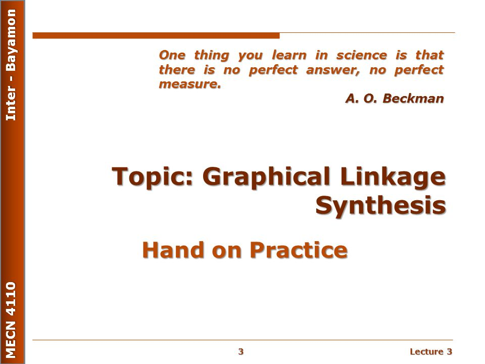 Topic: Graphical Linkage Synthesis