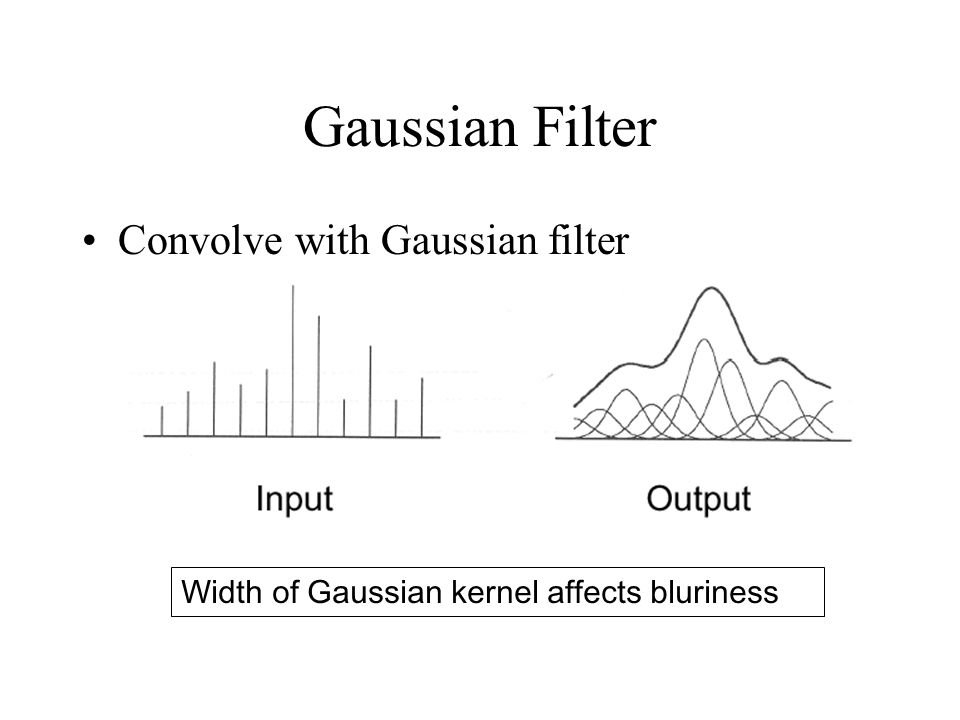 Gaussian Filter Convolve with Gaussian filter