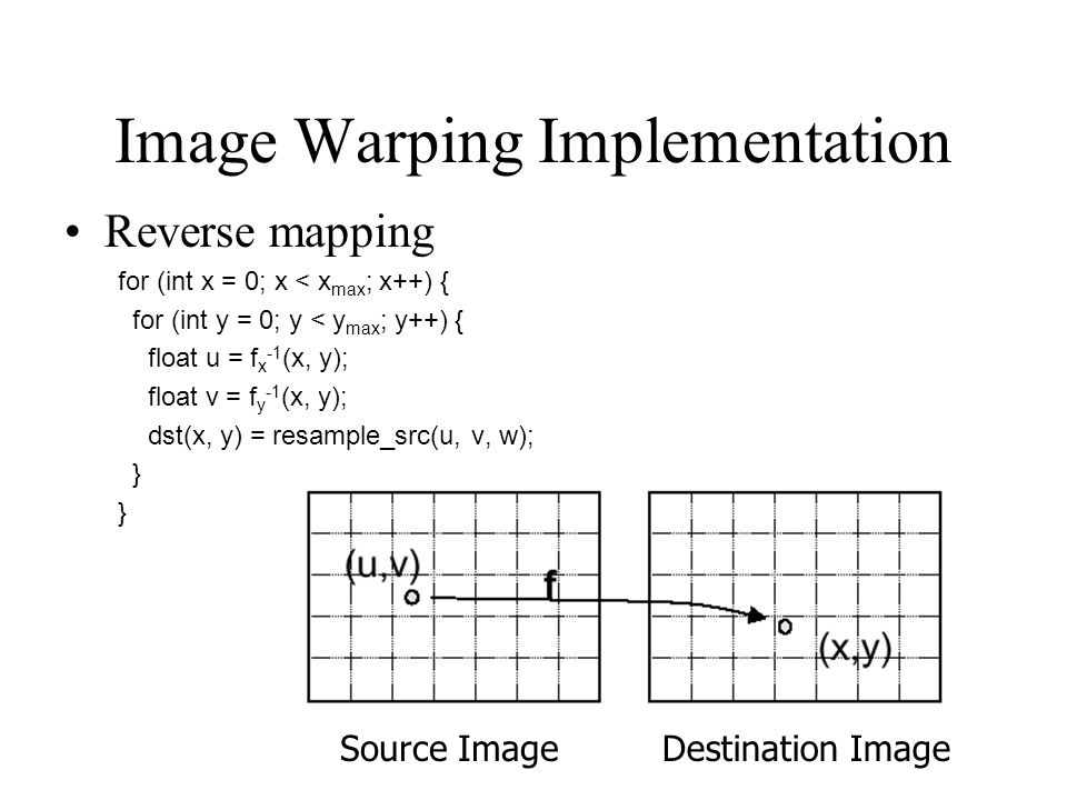 Image Warping Implementation