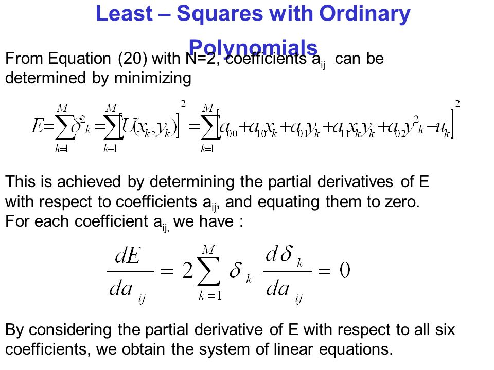 Least – Squares with Ordinary Polynomials