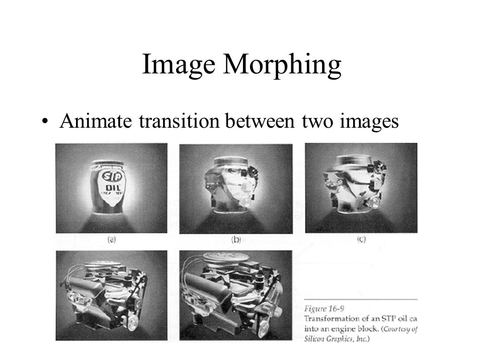 Image Morphing Animate transition between two images
