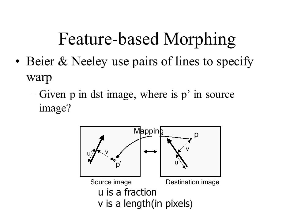 Feature-based Morphing