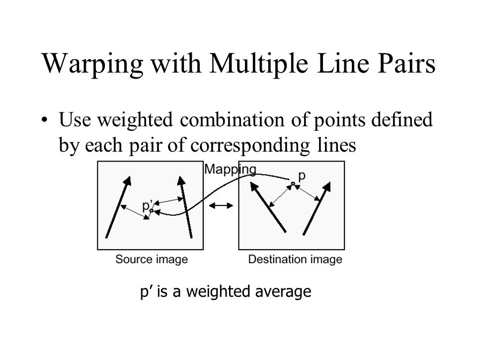 Warping with Multiple Line Pairs
