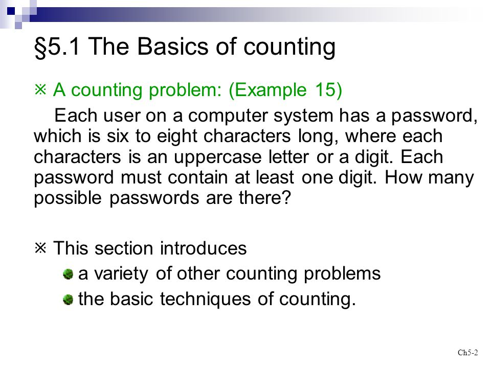 §5.1 The Basics of counting