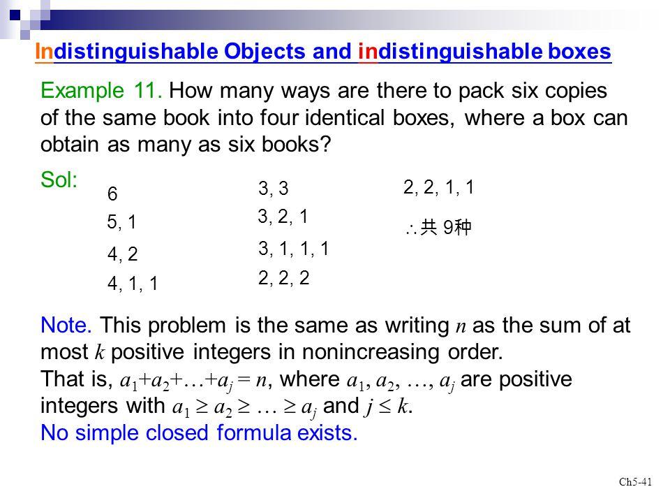 Indistinguishable Objects and indistinguishable boxes