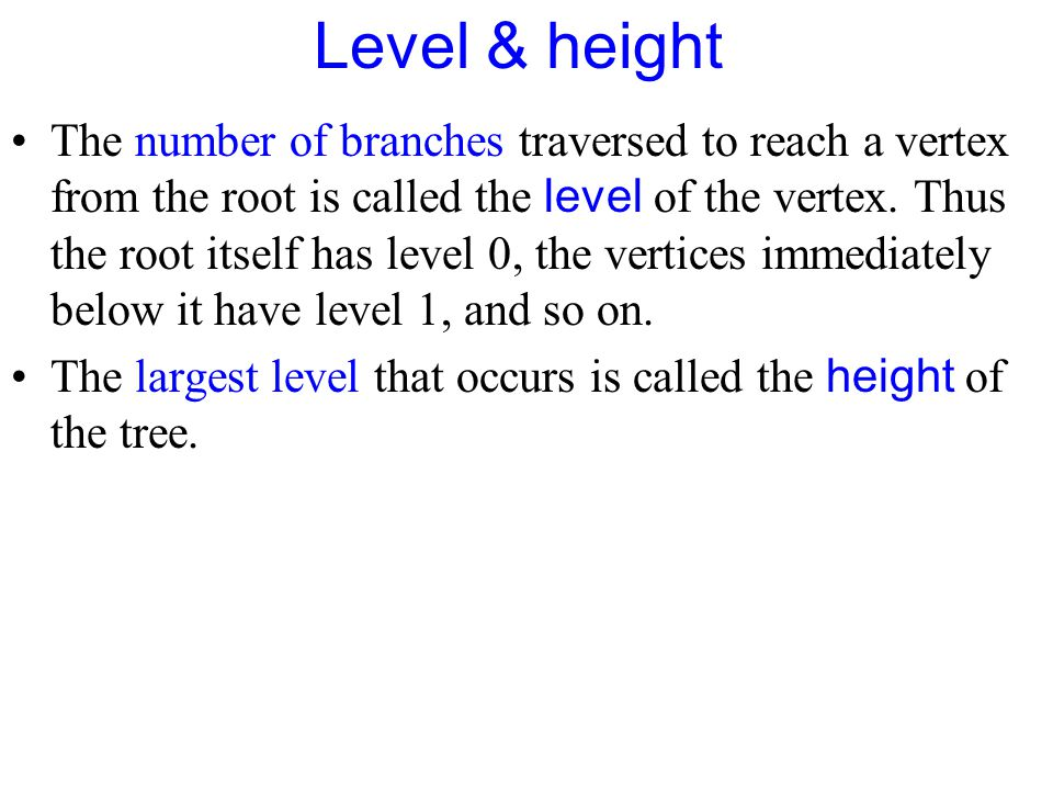 Level & height