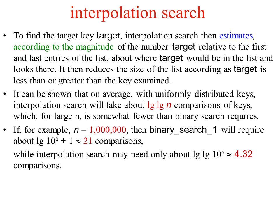 interpolation search