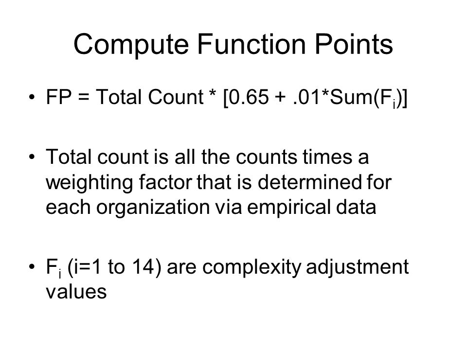 Compute Function Points