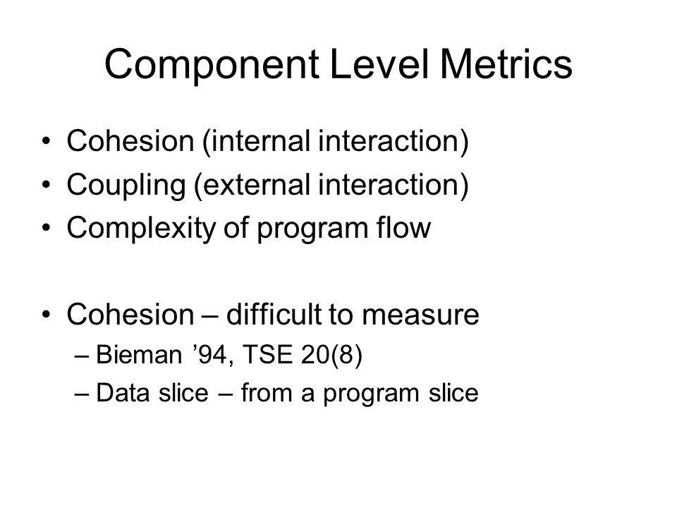 Component Level Metrics