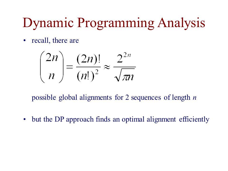 Dynamic Programming Analysis