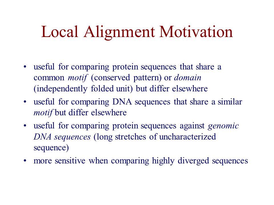 Local Alignment Motivation
