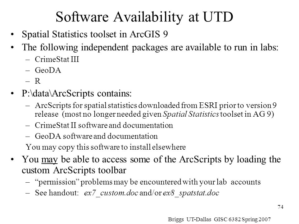 Software Availability at UTD