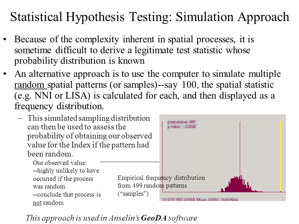 Statistical Hypothesis Testing: Simulation Approach