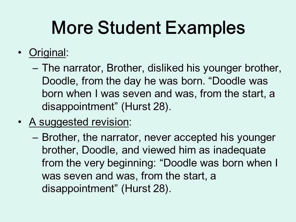 More Student Examples Original: