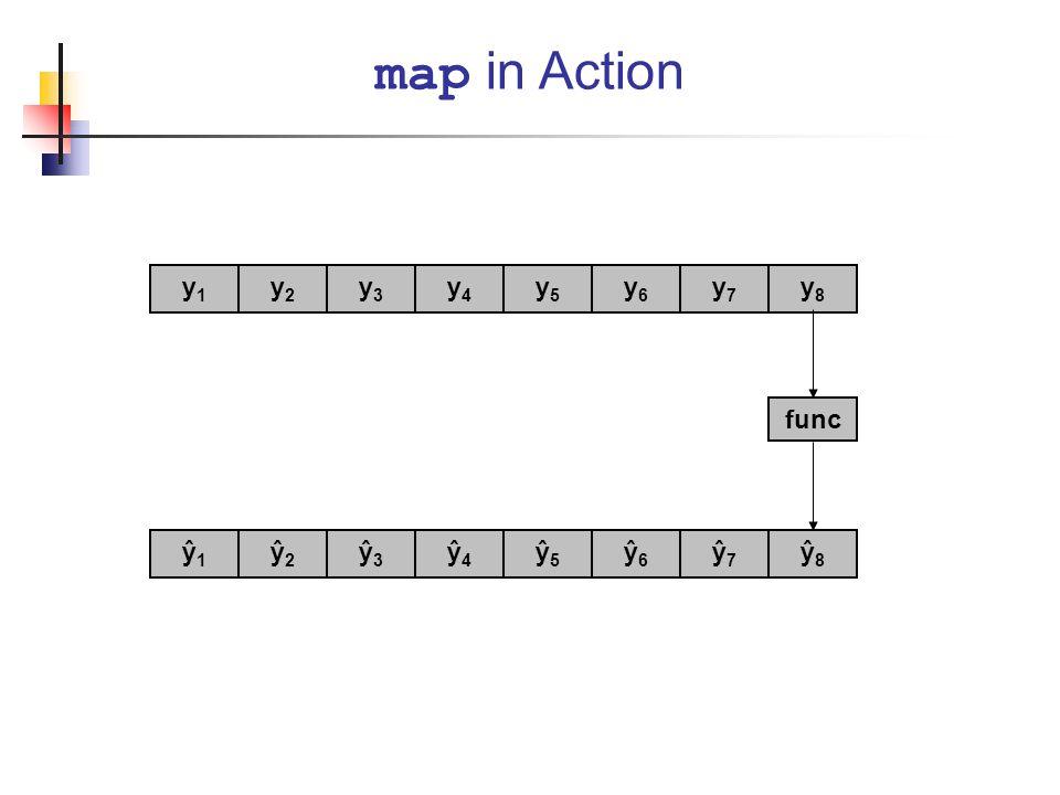 map in Action y1 y2 y3 y4 y5 y6 y7 y8 func ŷ1 ŷ2 ŷ3 ŷ4 ŷ5 ŷ6 ŷ7 ŷ8