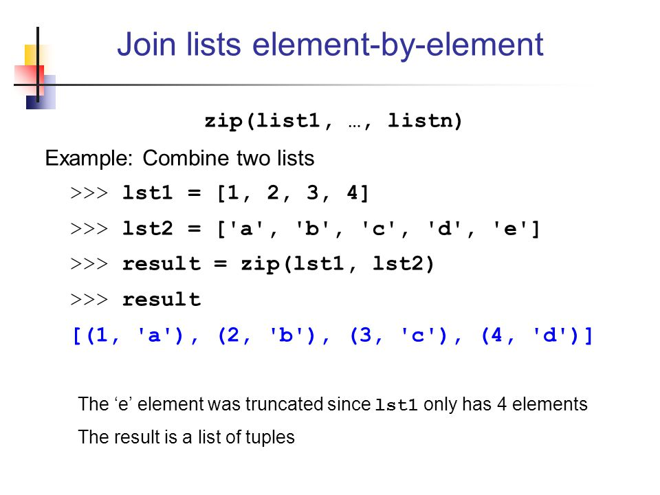 Join lists element-by-element