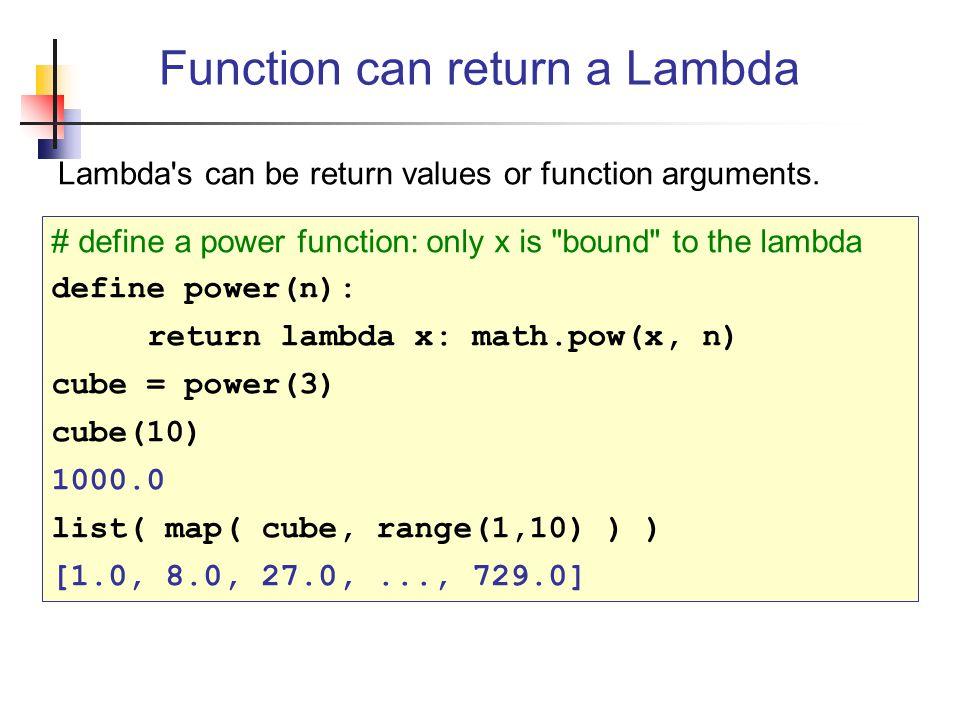 Function can return a Lambda