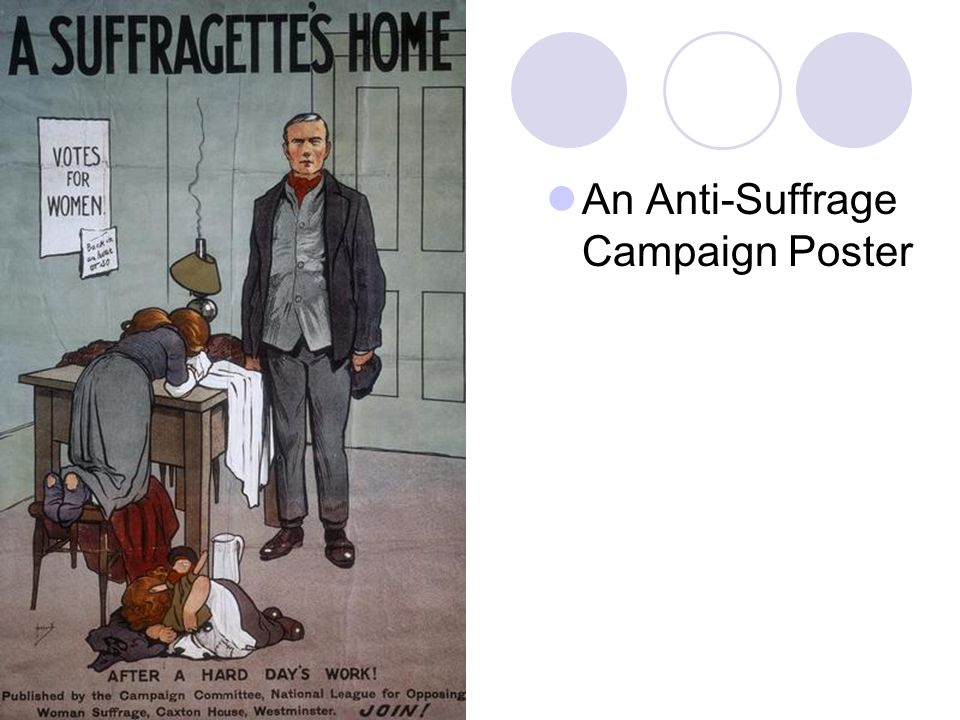 An Anti-Suffrage Campaign Poster