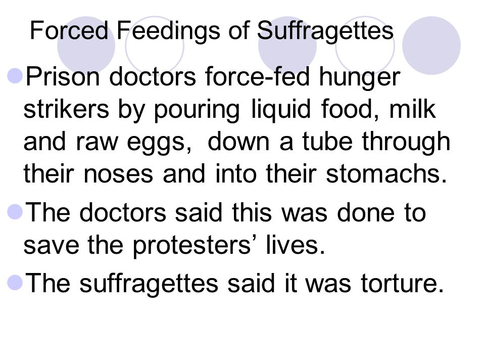 Forced Feedings of Suffragettes