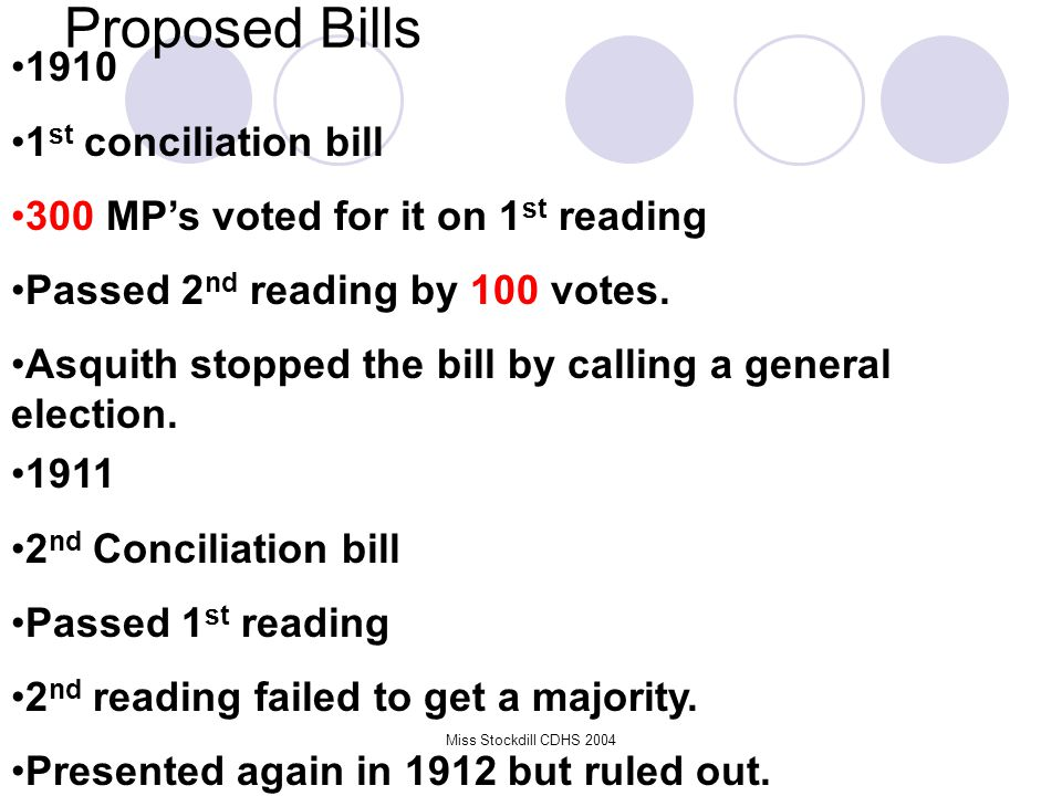 Proposed Bills 1910 1st conciliation bill
