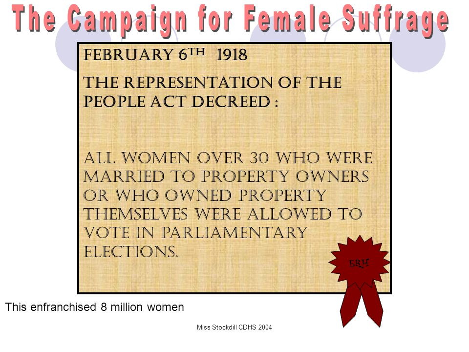The Campaign for Female Suffrage