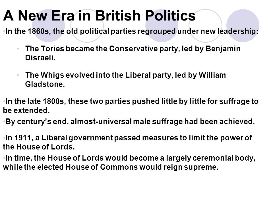 A New Era in British Politics