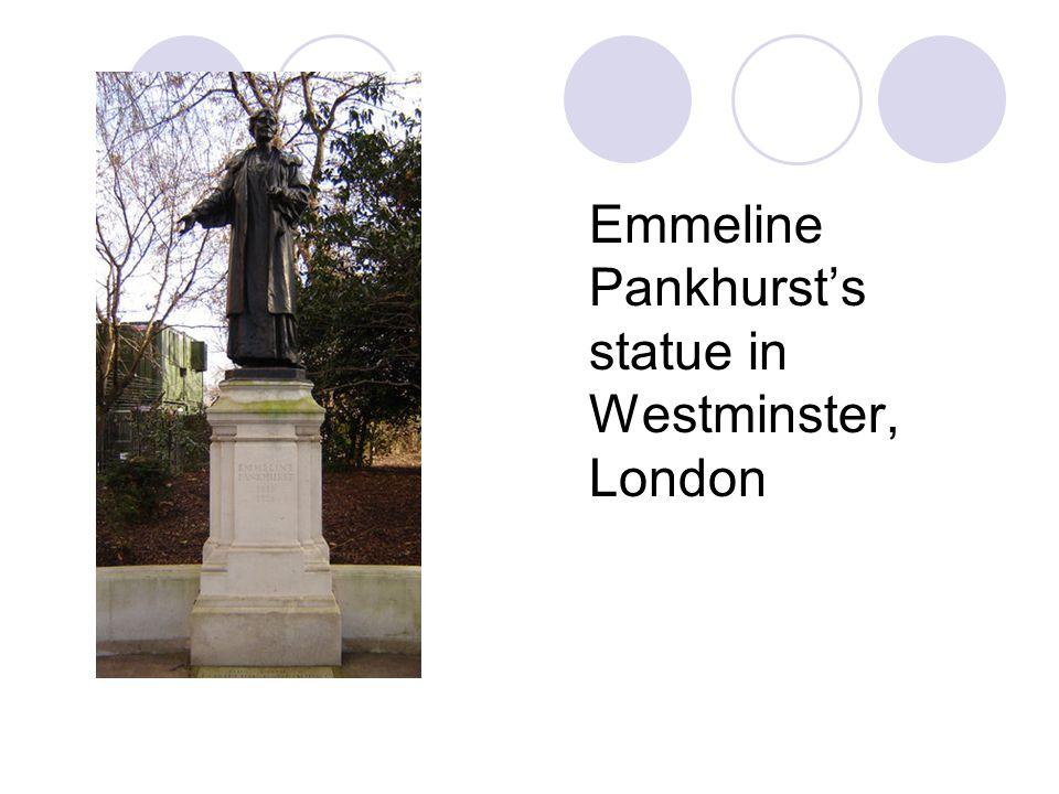Emmeline Pankhurst's statue in Westminster, London