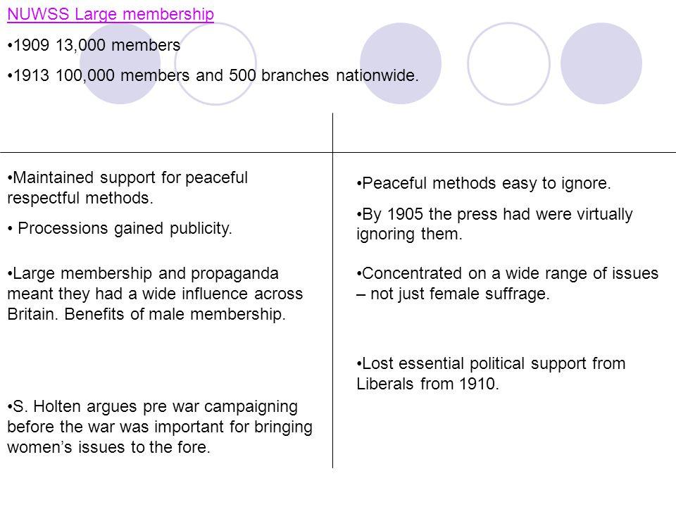 NUWSS Large membership