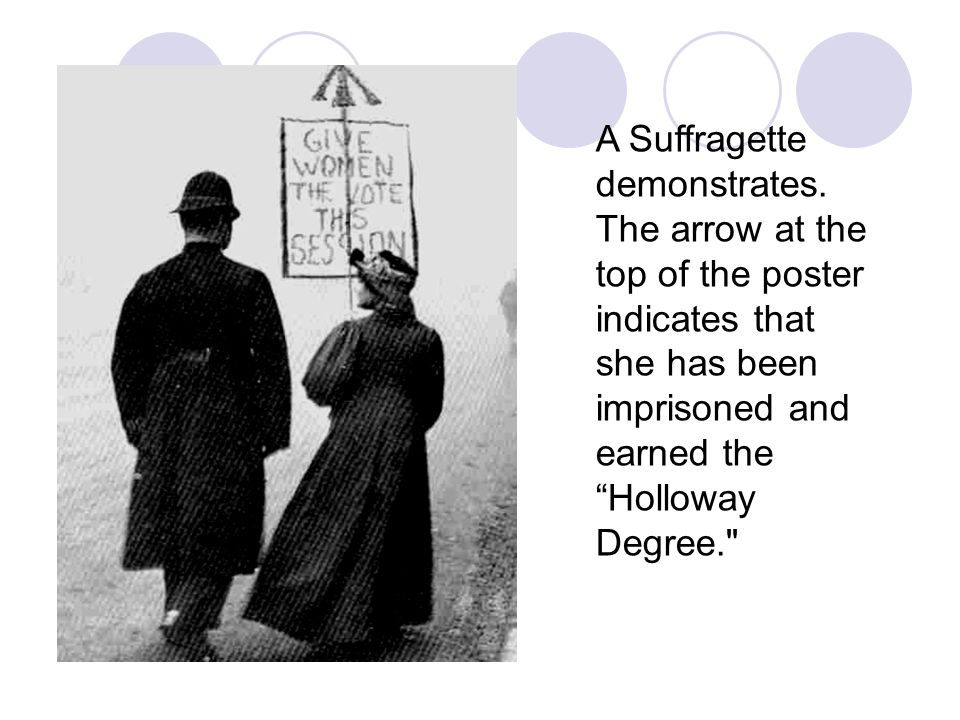 A Suffragette demonstrates