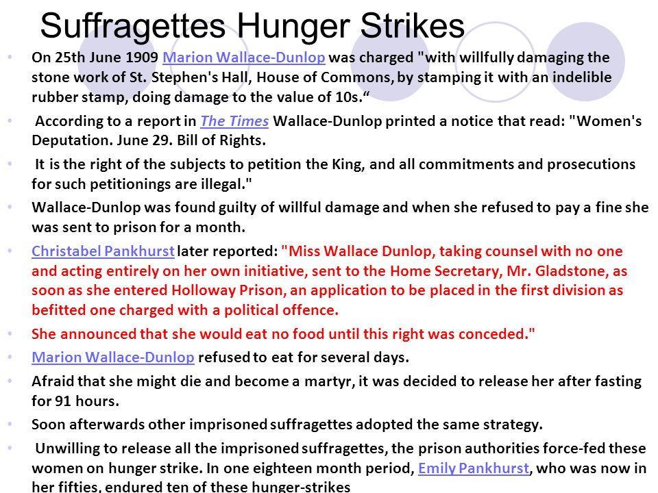 Suffragettes Hunger Strikes