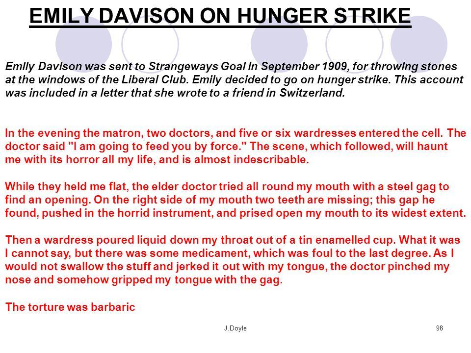 EMILY DAVISON ON HUNGER STRIKE