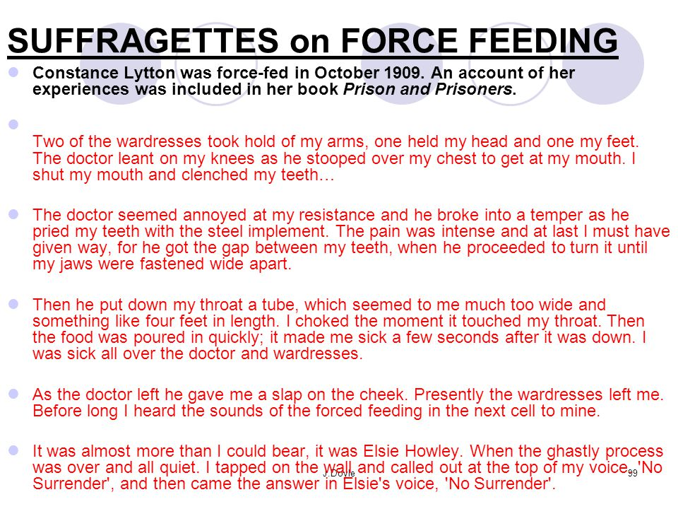 SUFFRAGETTES on FORCE FEEDING