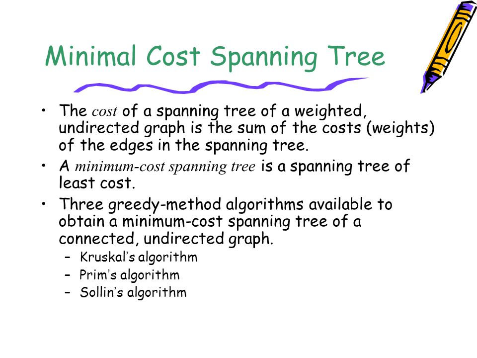 Minimal Cost Spanning Tree