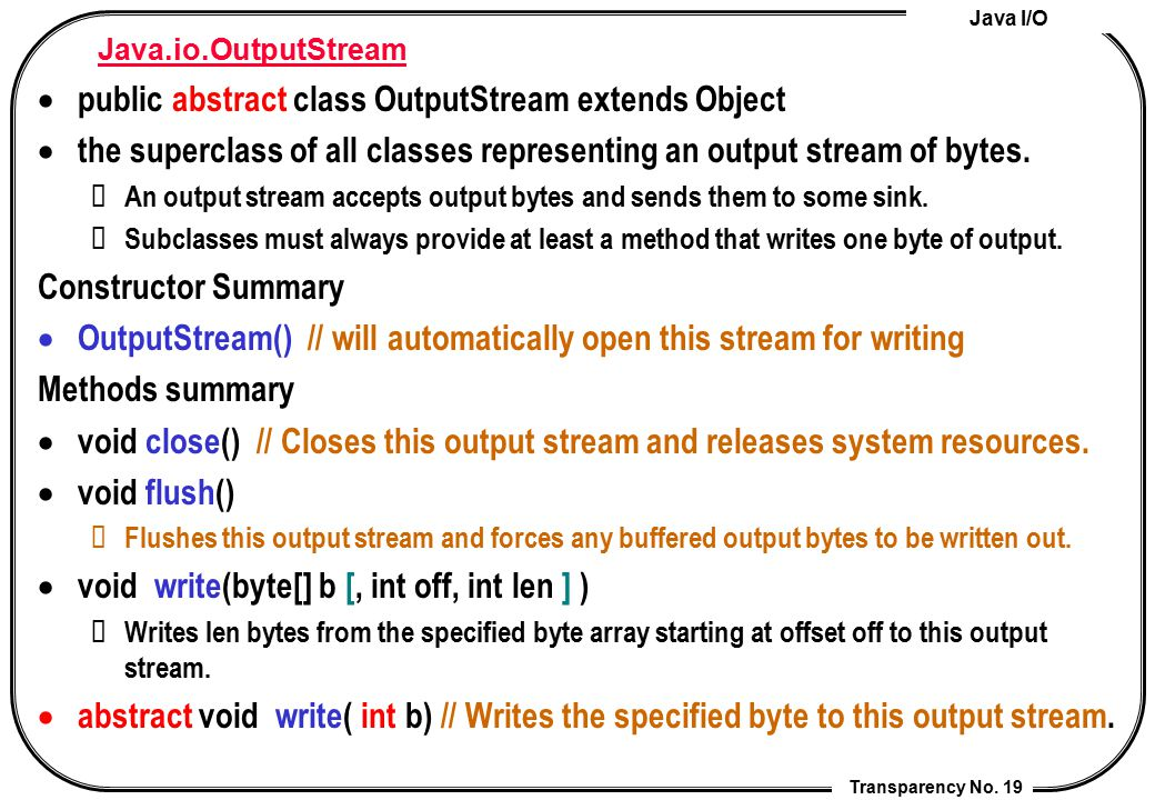 public abstract class OutputStream extends Object