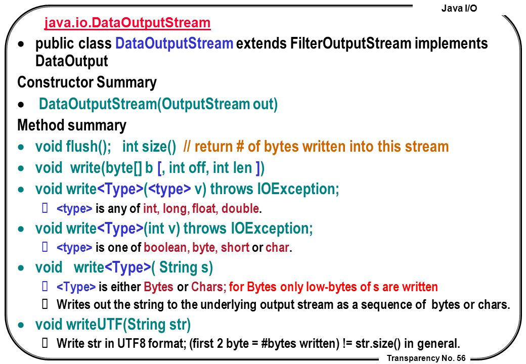 java.io.DataOutputStream