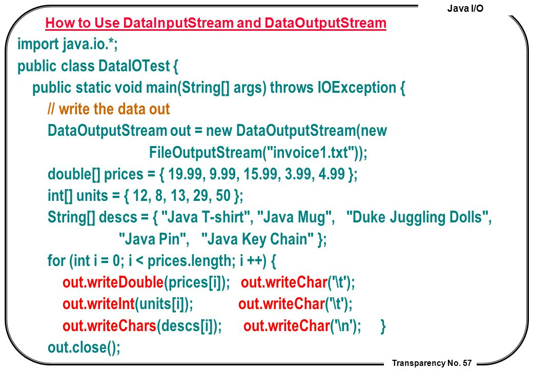 How to Use DataInputStream and DataOutputStream