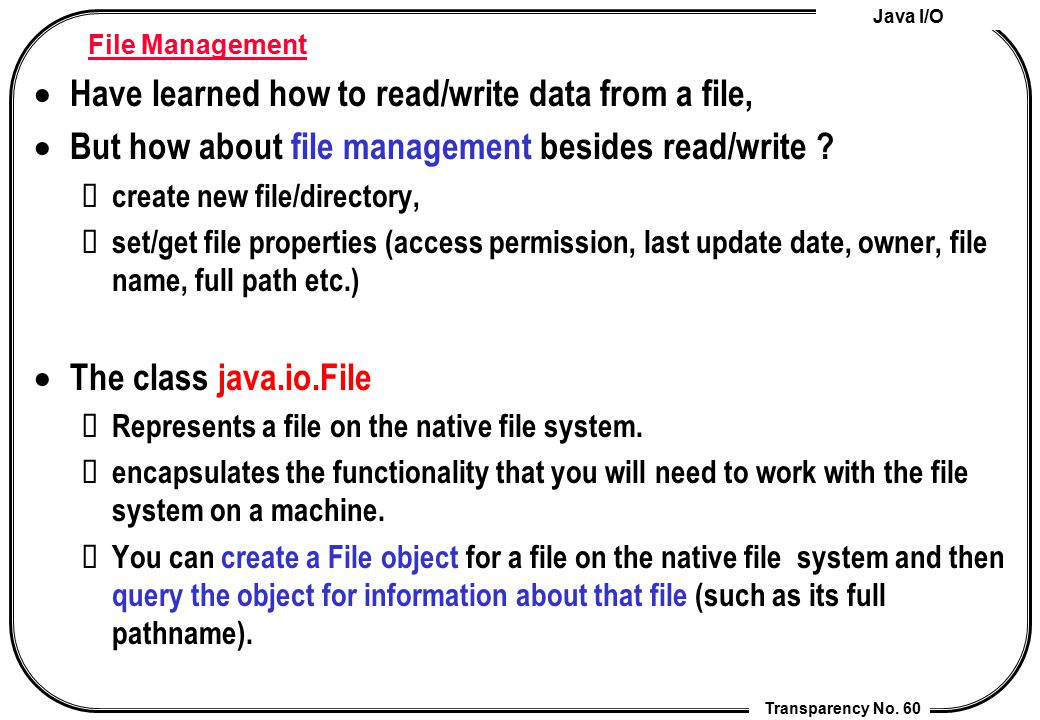 Have learned how to read/write data from a file,