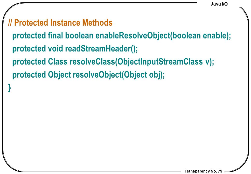 // Protected Instance Methods