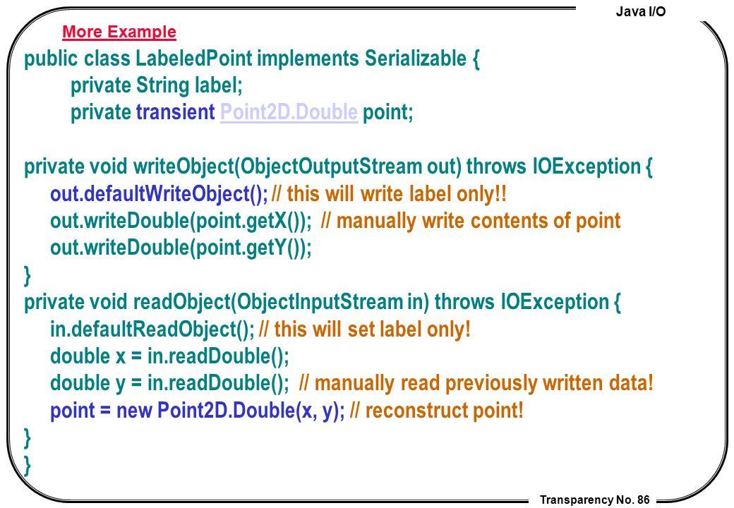public class LabeledPoint implements Serializable {