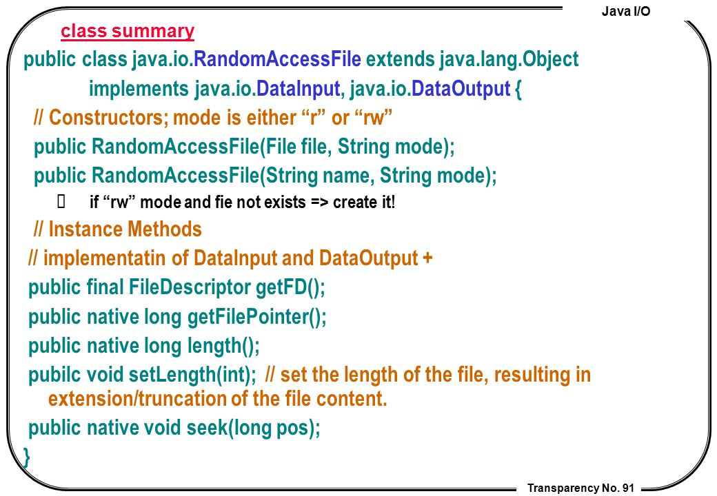 public class java.io.RandomAccessFile extends java.lang.Object