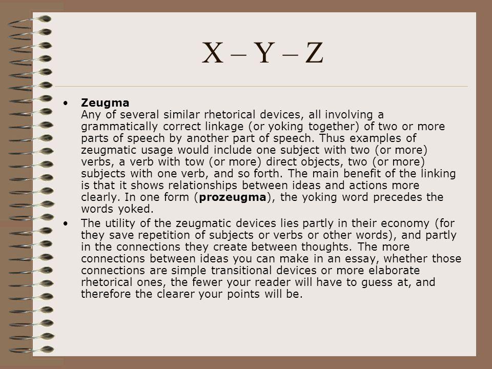 X – Y – Z