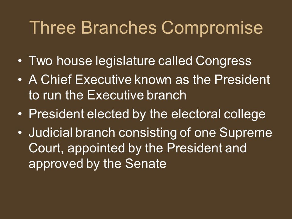 Three Branches Compromise