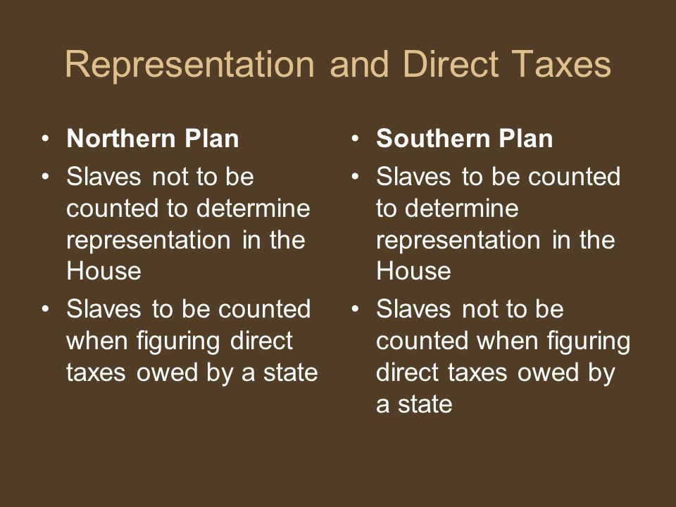 Representation and Direct Taxes
