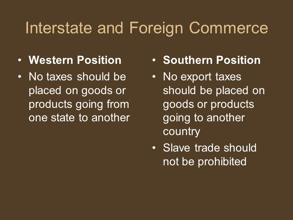 Interstate and Foreign Commerce