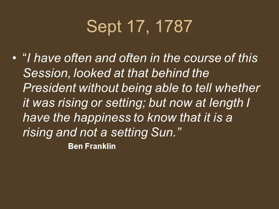 Sept 17, 1787