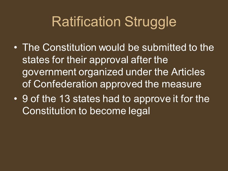 Ratification Struggle