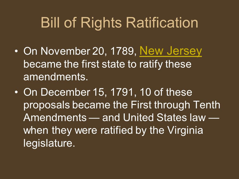 Bill of Rights Ratification