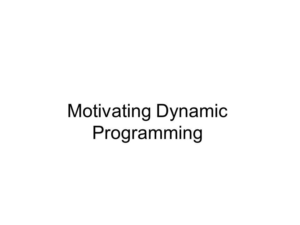 Motivating Dynamic Programming