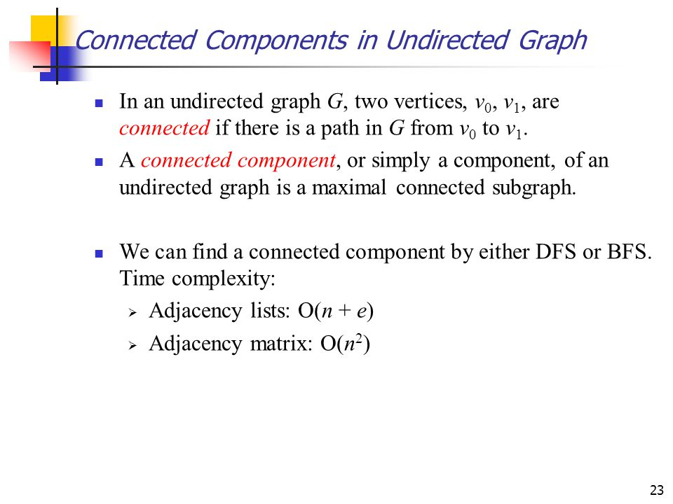 Connected Components in Undirected Graph